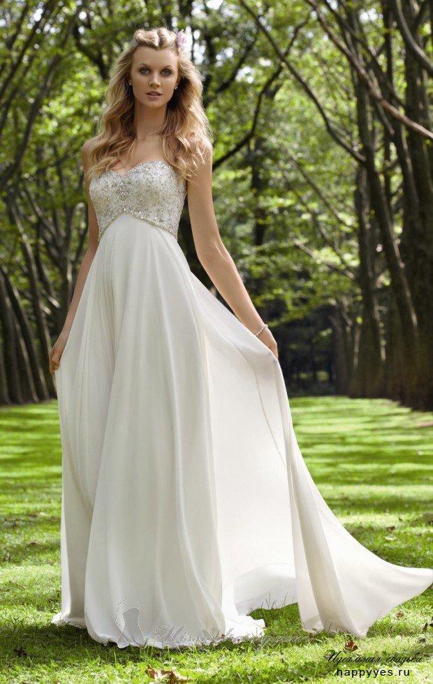 Фото струящиеся свадебные платья